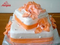#с180 (35) Свадебный торт с орхидеями