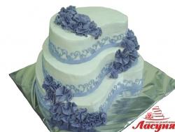 #с180 (41) Свадебный торт необычной формы