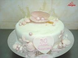 #с180 (42) торт на жемчужную годовщину свадьбы