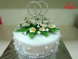 #с180 (43) Свадебный торт с калами и кольцами