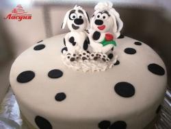 #с180 (46) Свадебный торт Далматинцы