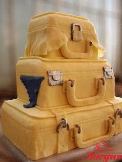 #с200 (15) свадебный торт чемоданы
