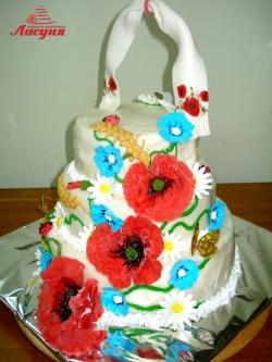 #с200 (17) весільний торт в українському стилі