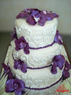 #с200 (19) свадебный торт с орхидеями