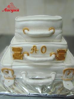 #с200 (23) свадебный торт чемоданы