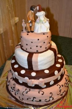 #с200 (24) свадебный торт бежевый