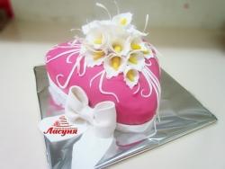#ю170(3) торт с цветами калами