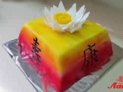 #ю170(4) торт цветок лотоса