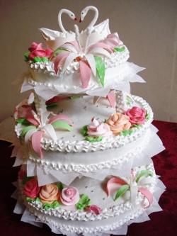 #c120 (5) Свадебный торт с лебедями