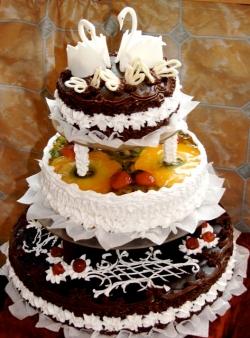 #c120 (8) Свадебный торт с разными начинками