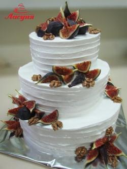 #c160 (1) Свадебный торт с инжиром и орехами