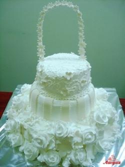 #c160 (11) Свадебный торт белый с аркой