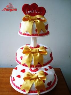 #c160 (20) Свадебный торт Love is