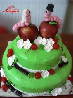 #c160 (23) Свадебный торт Гусеницы