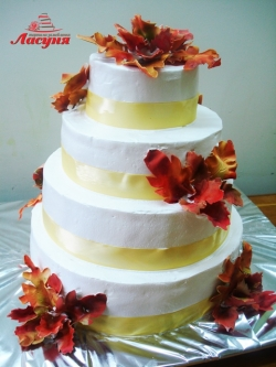 #c160 (25) Свадебный торт Осенний