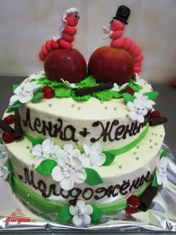 #c160 (26) Свадебный торт Гусеницы