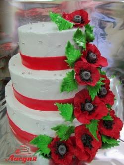 #c160 (29) Свадебный торт с маками