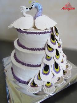 #c160 (31) Свадебный торт Павлины