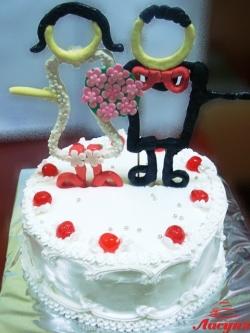 #c160 (33) Свадебный торт с фигурками