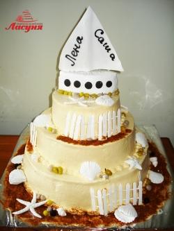 #c160 (34) Свадебный торт Морской