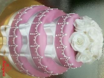 #c220 (1) свадебный торт с ленточками и розами
