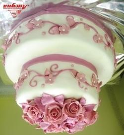 #c220 (12) свадебный торт с розами 2 яруса