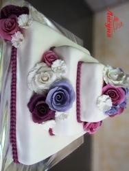"""#c220 (14) свадебный торт """"квадратный"""" с розами"""