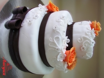 #c220 (16) свадебный торт мастика 3 яруса розы