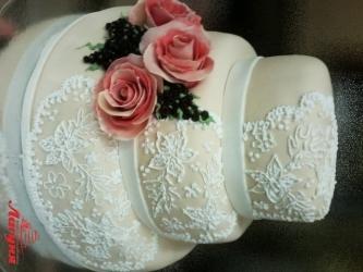 #c220 (2) свадебный торт с узорами и розами