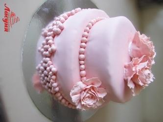#c220 (20) свадебный торт розовый