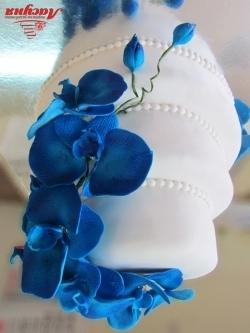 #c220 (24) свадебный торт с синими орхидеями