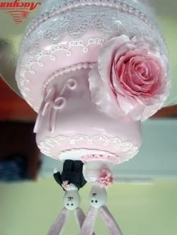 #c220 (25) свадебный торт с айсингом и фигурками