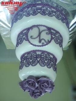 #c220 (29) свадебный торт с айсингом и розами