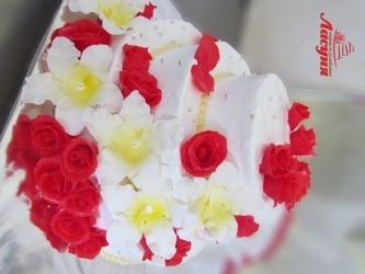 #c220 (6) свадебный торт с цветами