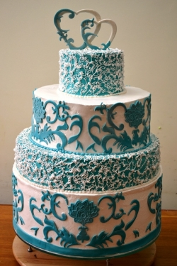 #c220 (7) свадебный торт с узорами и сердцами
