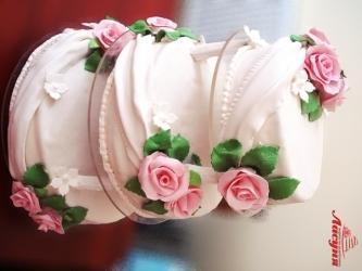 #c220 (8) свадебный торт на подставке 3 яруса