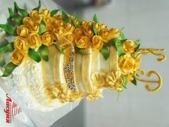 #c250 (17) свадебный торт золотой