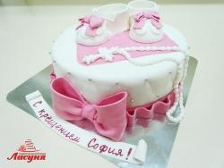 #д180(45) торт на крещение для девочки