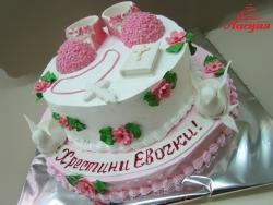 #д180(48) торт на крестины для девочки