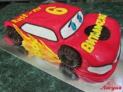 #д180(49) торт для мальчика на 6 лет Тачки Молния Маквин