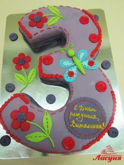 #д180(50) торт на 3 годика