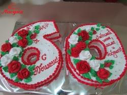 #п135(19) торт на 60 лет для жены, мамы и бабушки