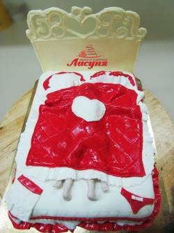 #п220(22) торт для влюблённых кровать страсти