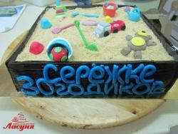 #п220(23) торт песочница, торт на 30 лет прикол