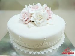 #п220(25) торт с розами, женский торт, торт на 8 марта