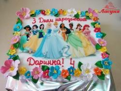 #д160(57) торт принцессы Диснея для девочки