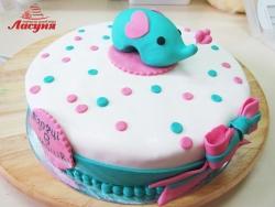 #д180(52) торт Слонёнок на 6 месяцев для девочки
