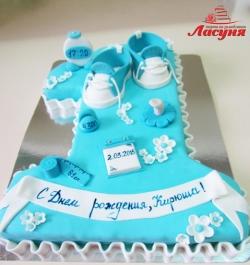 #д200(28) торт на 1 год для мальчика