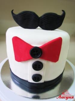 #п180(34) торт Усы, торт мужчине