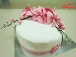 #п200(49) торт с орхидеями для женщины